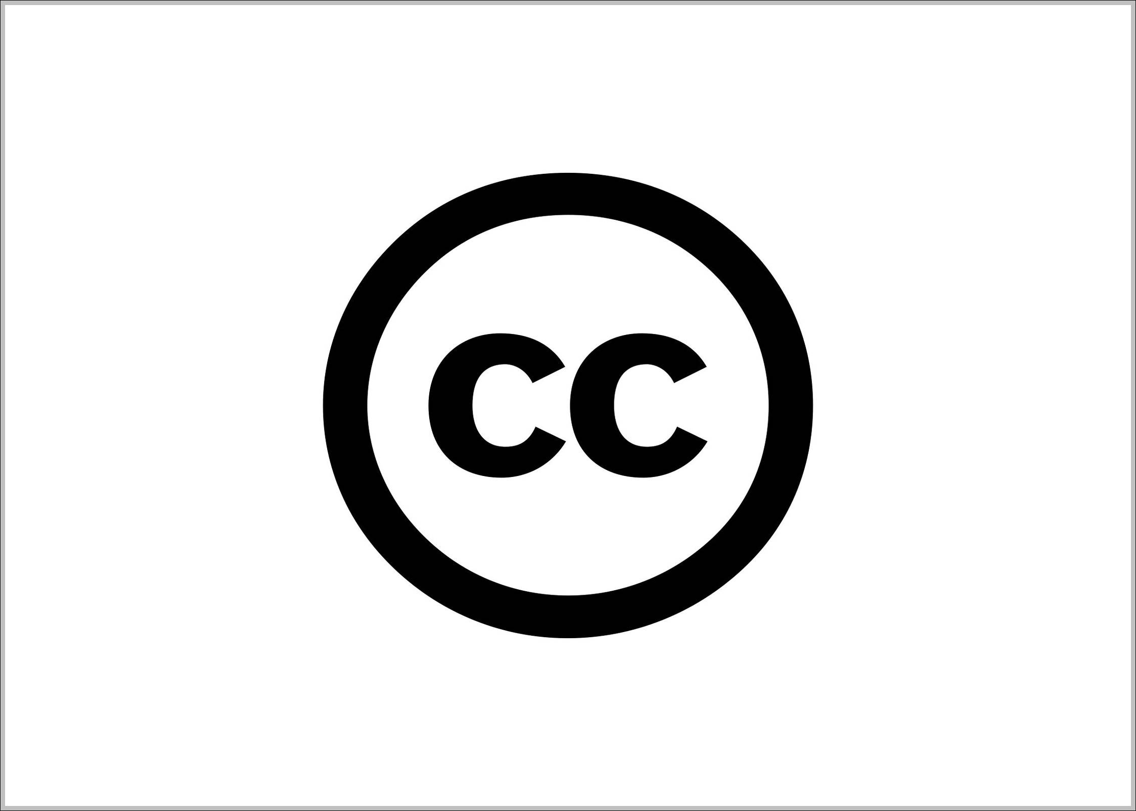 Creative Commons Trademark Logo Sign