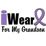 I Wear Violet Ribbon For My Grandson Shirts