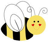 A Cute Bee T-Shirts, Magnets, Stickers, and more!