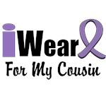 I Wear Violet  Ribbon For My Cousin Shirts