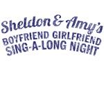 amy and sheldon's boyfriend girlfriend sing-a-long nite big bang theory t shirt