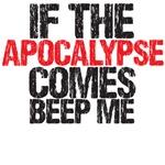 buffy - if the apocalypse comes beep me tee
