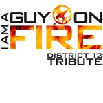 I am a guy on fire Hunger Games t shirt
