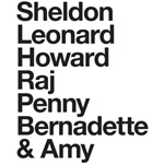 cast name t shirt big bang theory