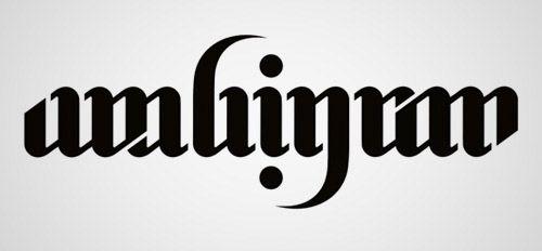 designs of ambigram logo set