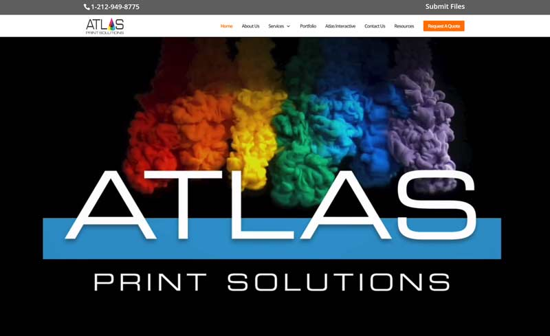 atlas print solutions website design