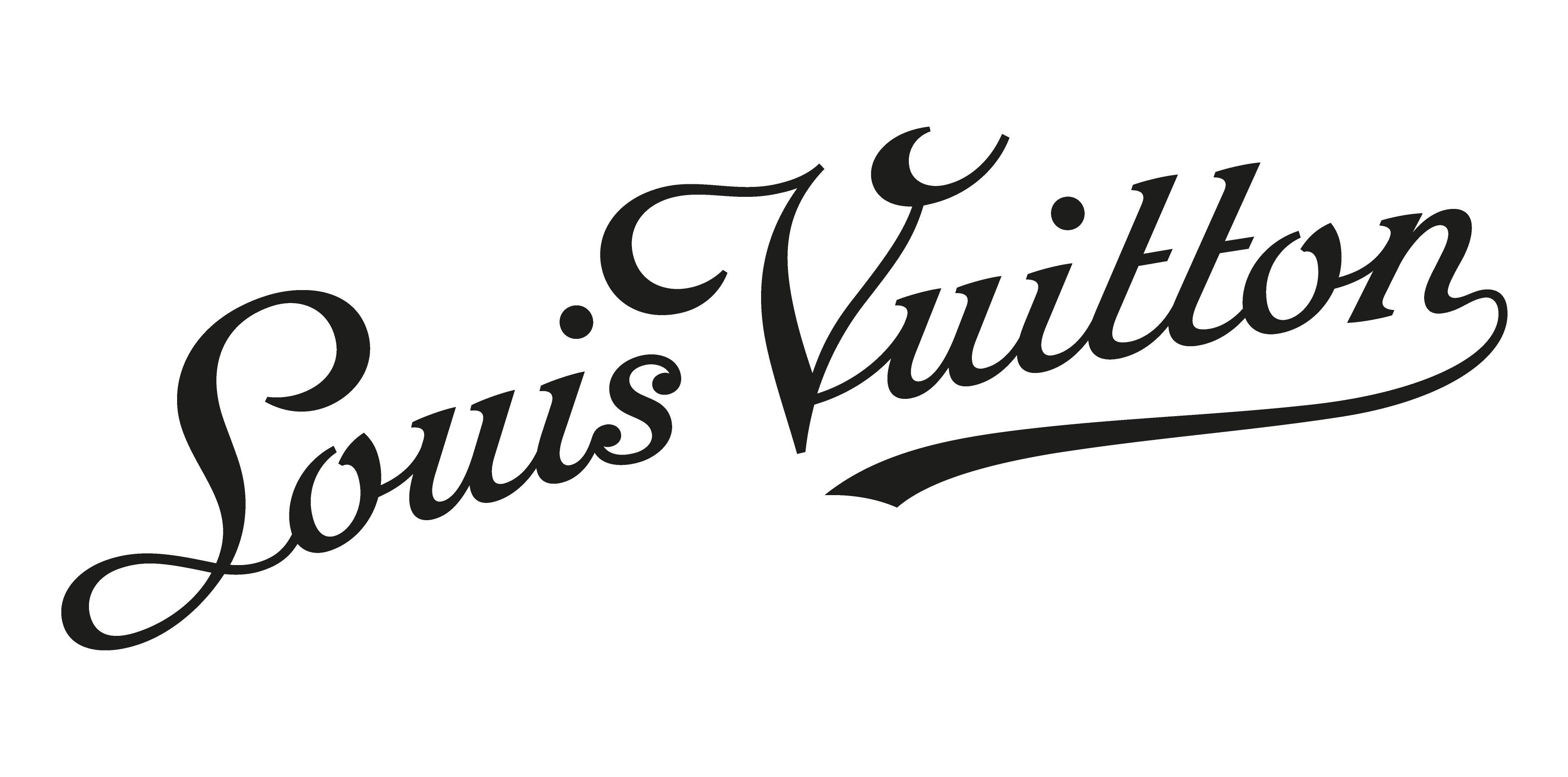 Black Louis Vuitton Logo