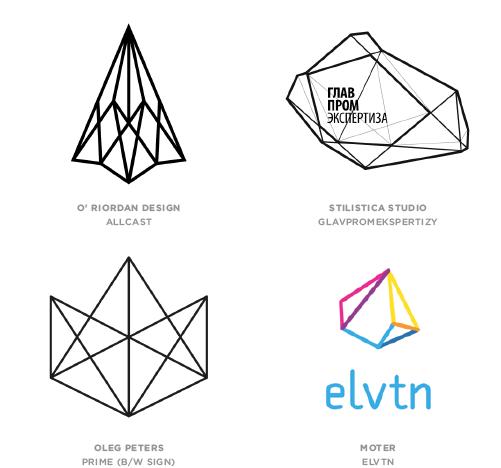 Geo Wires trend logo examples