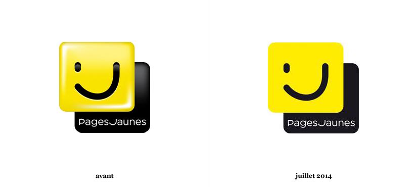 pages jaunes adoptent le flat design logonews. Black Bedroom Furniture Sets. Home Design Ideas