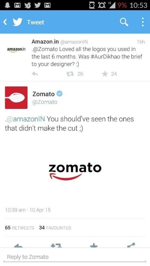 Amazon : Zomato