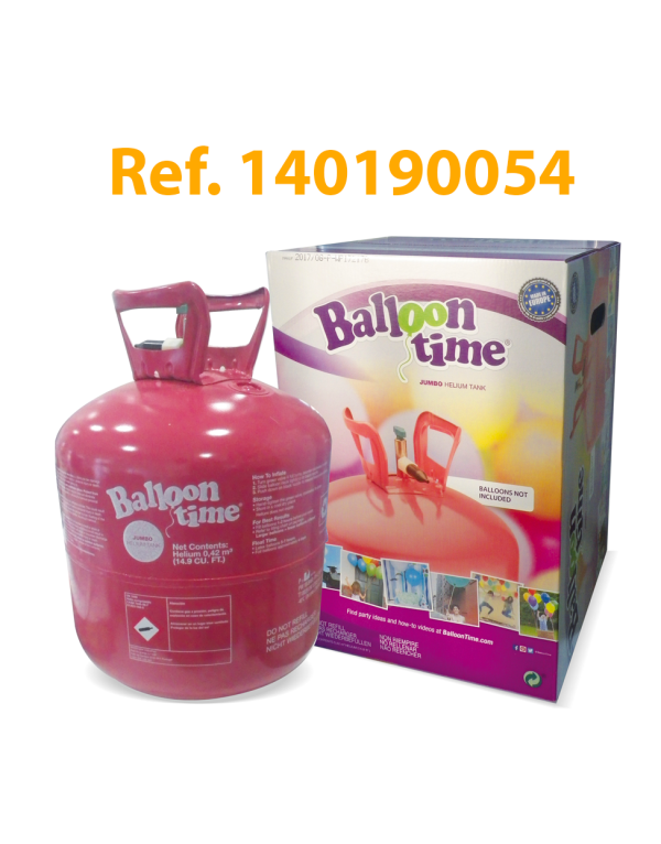 Botella de hélio desechable Standard 0,42m3 – Balloon Time – Jumbo