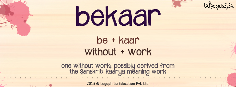 Etymology of bekaar