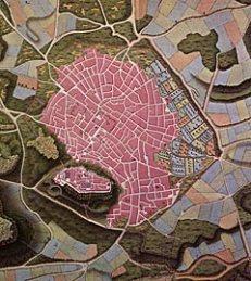 Χάρτης Coubault (αρχή 19ου αι.) Πηγή: Ι. Μελετόπουλος, Αθήναι 1650-1870, έκδοση Τράπεζας Πίστεως, Αθήνα 1979