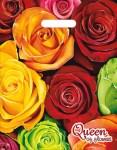 Купить оптом полиэтиленовый пакет Королева цветов 30x40 с прорубной ручкой от Интерпак