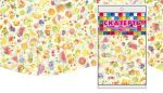 Купить оптом полиэтиленовую скатерть для пикника Фрукты 120х220 от Интерпак