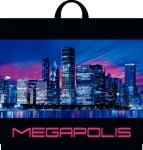 Купить оптом полиэтиленовый пакет Мегаполис трехслойный 50x46 с петлевой ручкой от Интерпак