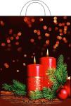 Купить оптом полиэтиленовый пакет Рождественский вечер 28*35см 55мкм с петлевой ручкой