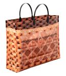 Купить оптом полиэтиленовую сумку пакет Лоза 37х28х10 37х28 с внутренним и внешним карманом
