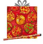 Бумага оберточная в рулоне 0,685х10м Золотой праздник, купить оптом в Санкт-Петербурге