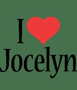 Jocelyn Logo Name Logo Generator I Love Love Heart