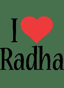 Radha Logo Name Logo Generator I Love Love Heart