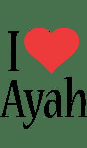 Ayah I Love Logo
