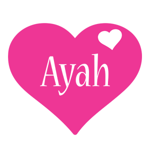 Ayah Love Heart Logo