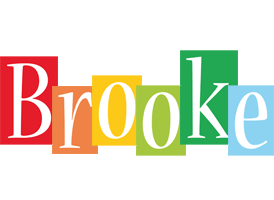 the name brooke colouring pages