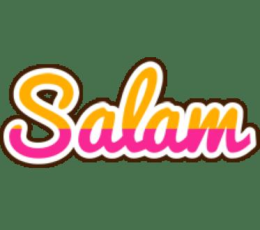 Salam Logo   Name Logo Generator - Smoothie, Summer, Birthday, Kiddo,  Colors Style