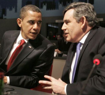 President Obama and British Prime Minister Gordon Brown