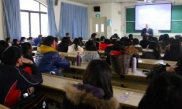 Teaching undergraduate business students at Shanghai International Studies University
