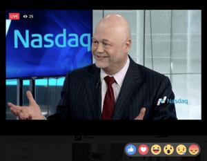 Garcia at NASDAQ studios