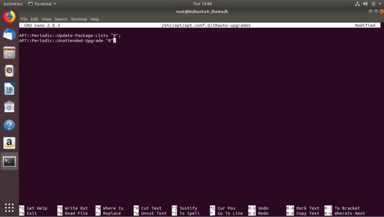 Disabling updates for testing purposes in Ubuntu