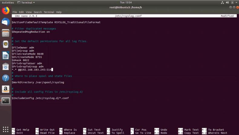Configuring rsyslog.conf in Ubuntu
