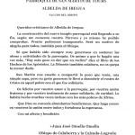 Carta del Obispo D. Juan José Omella Omella