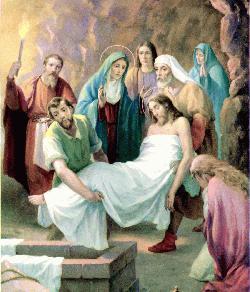 Jesús trasladado al sepulcro