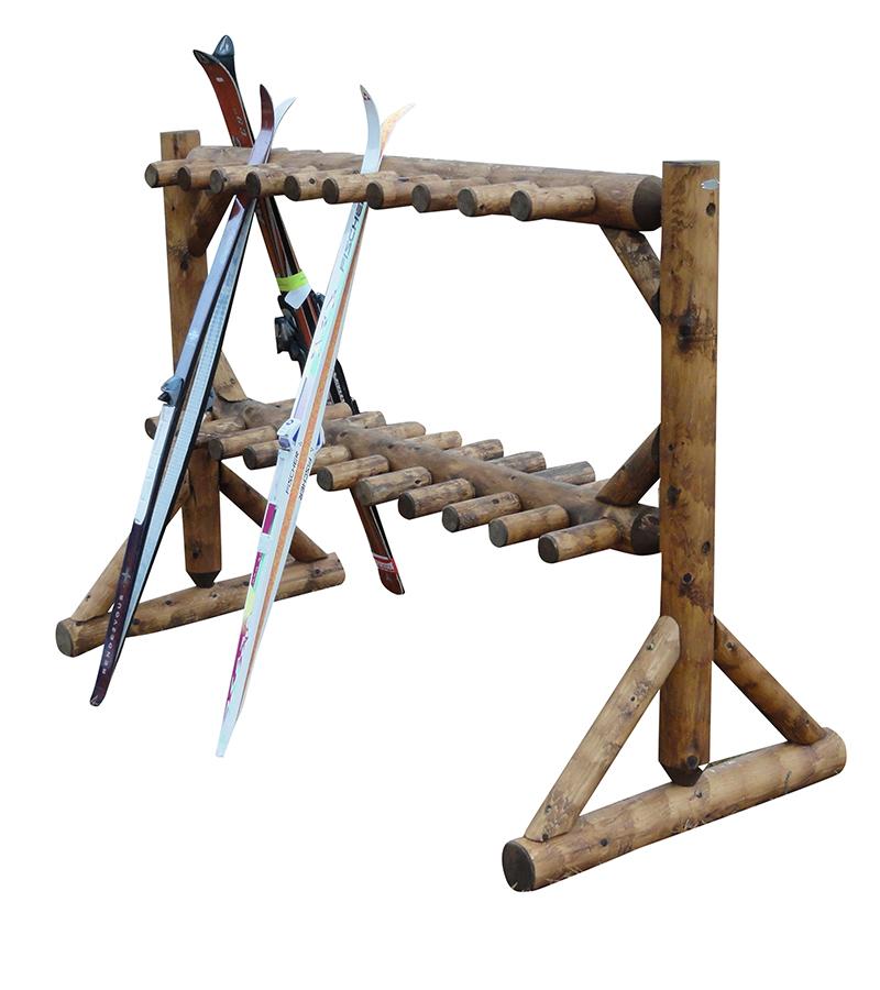 17 pair freestanding ski rack