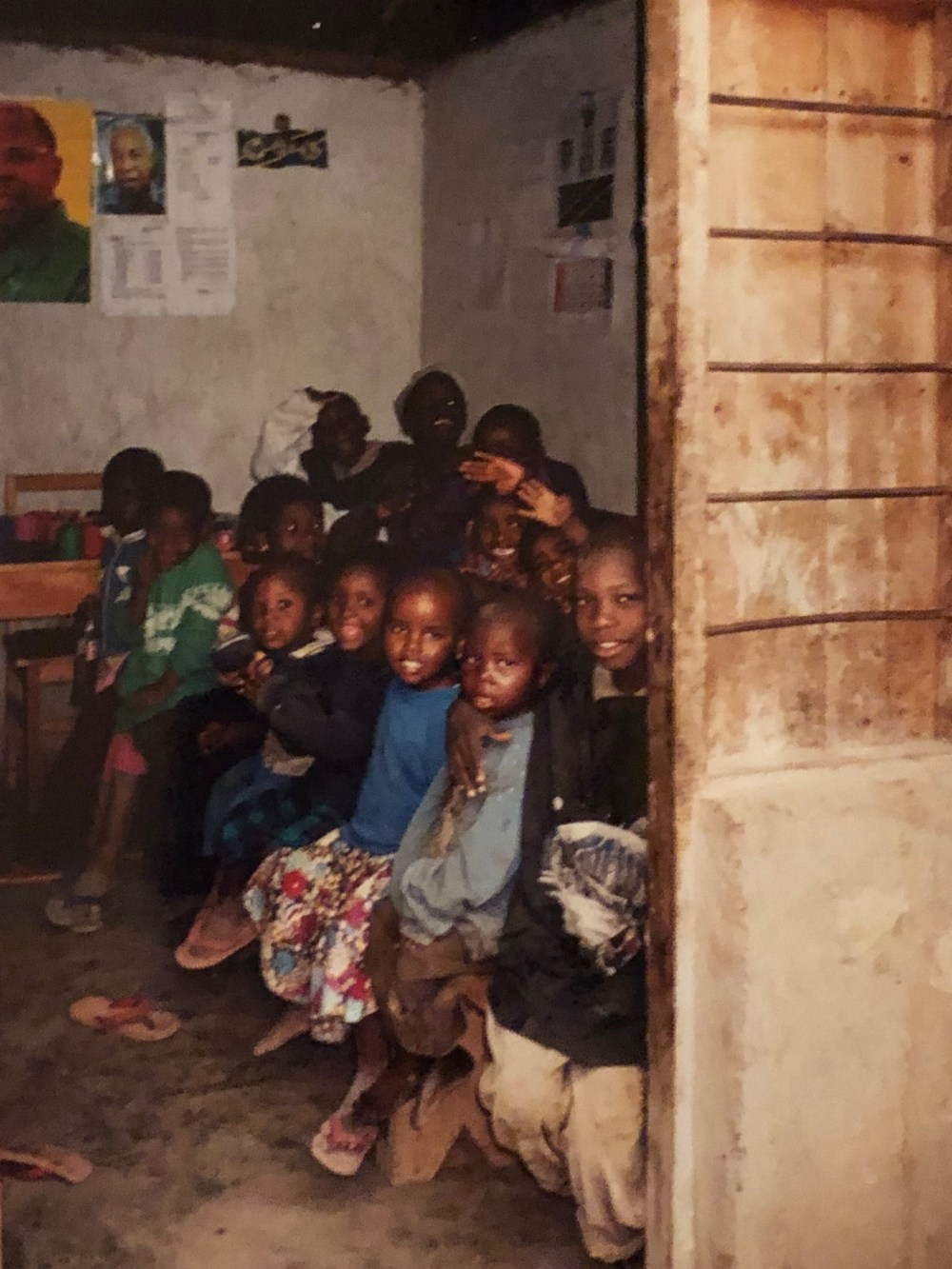 LOHADA children in a classroom in 2001