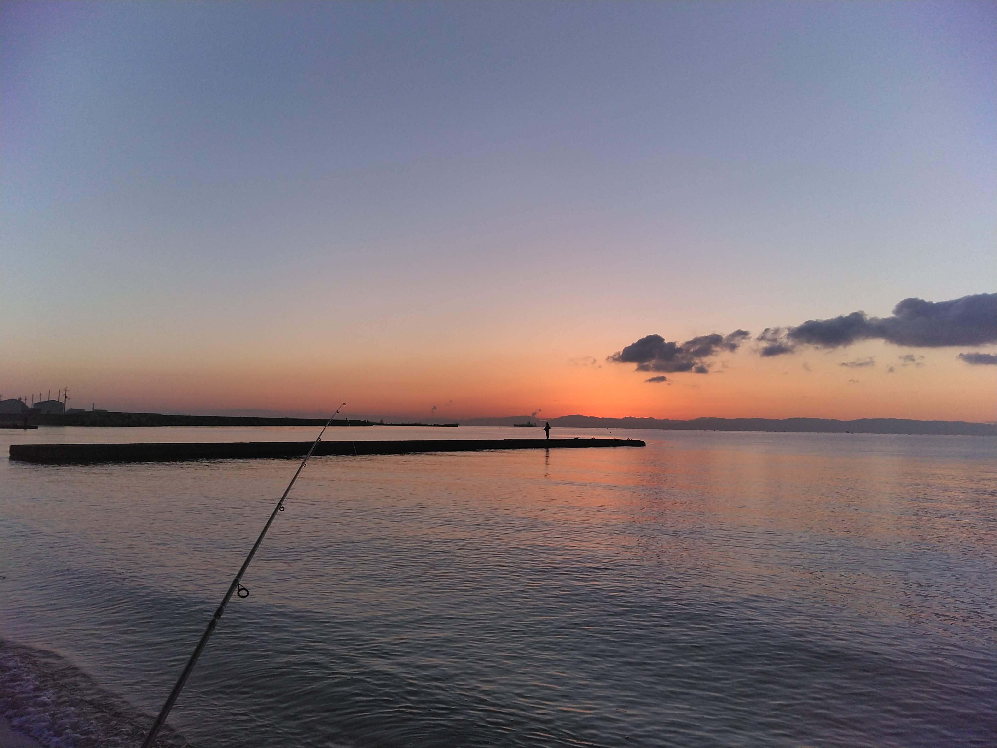 2019初釣りの朝焼け