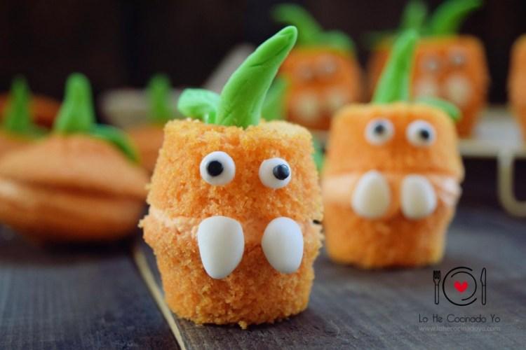 Cupcakes con Forma de Calabaza para Halloween