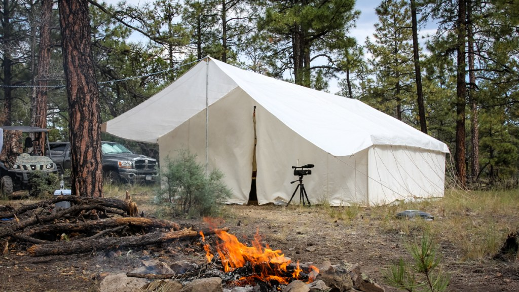 New Mexico Elk Hunting Wall Tent Camp