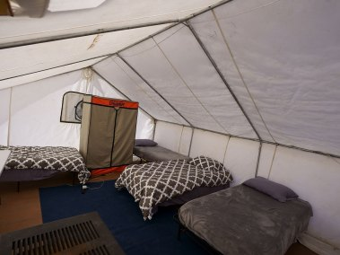 Tents Inside At LOH Outfitters