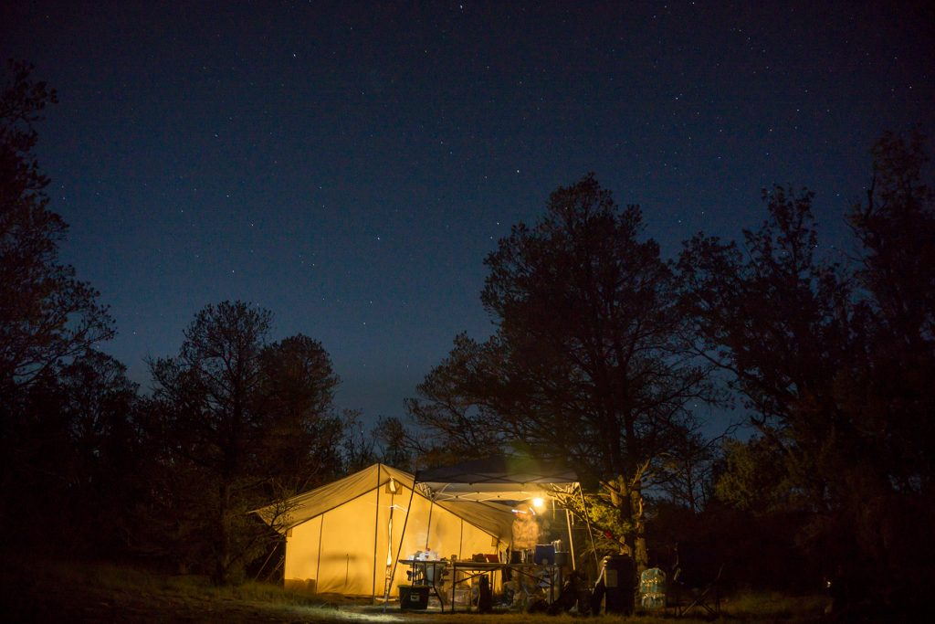Elk Hunting Outfitter Camp