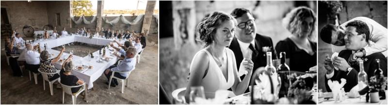Plusieurs photos du repas de mariage