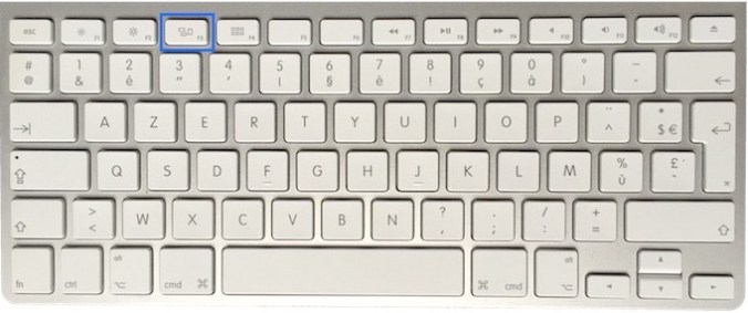 Clavier Apple - touche F3