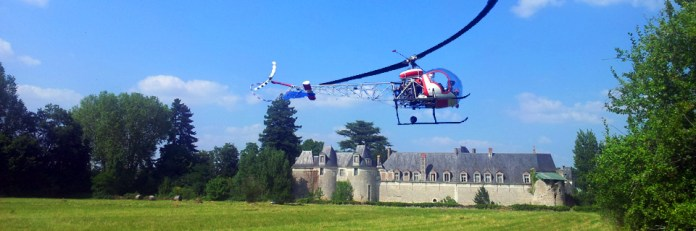 baptême de l'air en hélicoptère au château de selles sur Cher