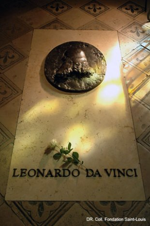 monuments et châteaux de la Loire ouverts toute l'année tombe de Léonard de Vinci au château d'Amboise