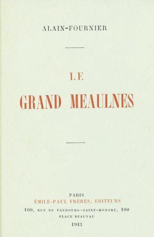 Couverture de l'édition originale du roman d'Alain-Fournier, Le Grand Meaulnes, Paris, Emile-Paul Frères, sept.oct. 1913 By Marc-AntoineV