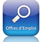 Bouton Web OFFRES D'EMPLOI (carrières recherche candidature c