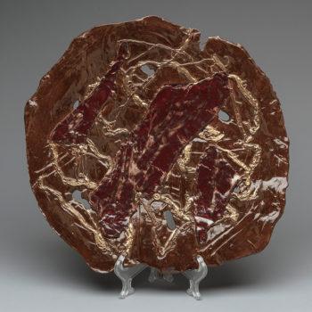 Image: Chocolate bronze plate - Lois Sattler